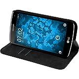PhoneNatic Kunst-Lederhülle für LG K5 Book-Case schwarz