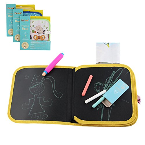 Tabla de dibujo portátil para niños, reutilizable, lavable, para escribir y aprender un juguete innovador, bebé, aprendizaje temprano, graffiti, tabla de dibujo, tres tipos de entrega al azar