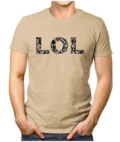 PRILANO Herren Fun T-Shirt - LOL - Small bis 5XL - NEU Khaki