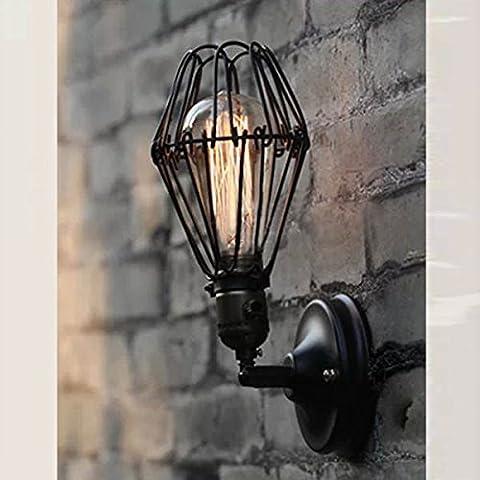 Montado en la pared de hierro forjado Edison Industrial Lámpara de pared 220V.
