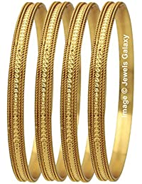 Jewels Galaxy Exclusive Limited Edition Traditional Gold Plated Bangles For Women - Set Of 4