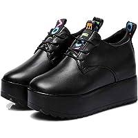 Femmes Haute Plate-Forme Chaussures Noir Blanc en Cuir Verni Caché Talon Anti-dérapant Lettres De Mode Décor Femme À…