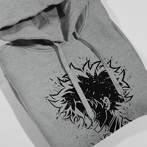 My Hero Academia Deku Manga Portrait Men's Hooded Sweatshirt Heather Grey