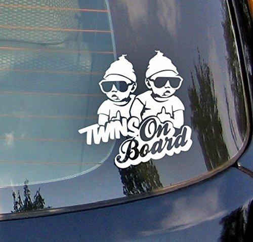 Twins On Board???Gap, Jungen Gl?ser Baby on Board Heart Kids Auto Aufkleber Drift Bumper Window Auto Funny Vinyl Van Laptop Love Herz Decor Home Live Kids Funny Art Wand Aufkleber Aufkleber -
