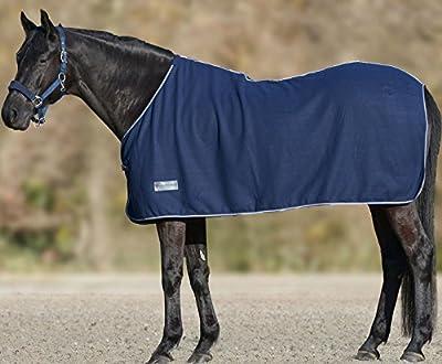 Manta polar azul oscuro Económico, tamaño: 165cm |-Manta para caballo