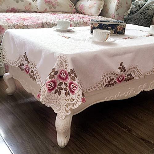 NNPE (TLMT) Continental Rechteckiges kleines Tuch Garden Square Tisch Fresh Round Table Floral Anti-Hot Tischdecke High-End-Tisch Clot (Size : 145 * 145cm) -