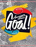 American Football Goal!: Quad Ruled 5x5 Graph Paper Notebook (5 squares per inch) - Large 8.5