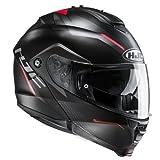 HJC Motorradhelm IS Max II Dova MC1SF, Schwarz/Rot, Größe M