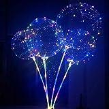 Vegena Helium Ballons, 6 Stück LED Licht Ballons, LED Lichter Bunte BoBo Luftballons, Perfekt für Valentinstag, Party, Jahrestag Feierlichkeiten, Hochzeit, Urlaub Dekoration