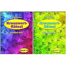 Kreuzworträtsel - in Großdruck - je Heft 128 Seiten - weisses Papier: Band 12 + Band 13