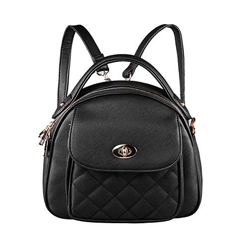 S-ZONE Frauen Mädchen Kleine Süße Stilvolle Mode Plaid Mini Leder Handtasche Geldbeutel Umhängetasche Schule Taschen (Laptop-rucksäcke Plaid)