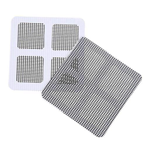 10pcs schermo riparazione patch, jiji886 finestra di casa porta schermo adesivo di riparazione della zanzara schermo di riparazione patch per porta/finestra zanzariera riparazione (grigio)