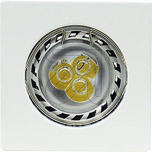 EVN Lichttechnik NV EB-Leuchte 645 001 ws 12V 50W GX5,3 Downlight/Strahler/Flutlicht 4037293645010