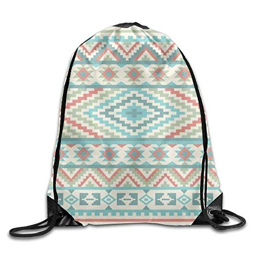 hidfaa borsa coulisse tribal patterns drawstring backpack rucksack shoulder bags training gym sack for man and women