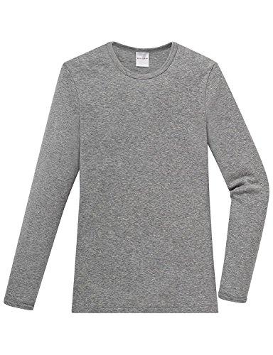Schiesser Jungen Unterhemd Shirt 1/1, Gr. 140 (Herstellergröße: 140 (8, Grau (202-grau-mel.) (Shirt Basic Tank Rib Top)