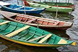 Cindy Miller Hopkins / DanitaDelimont – Colorful local wooden fishing boats Alter Do Chao Amazon Brazil Photo Print (45,72 x 30,48 cm)