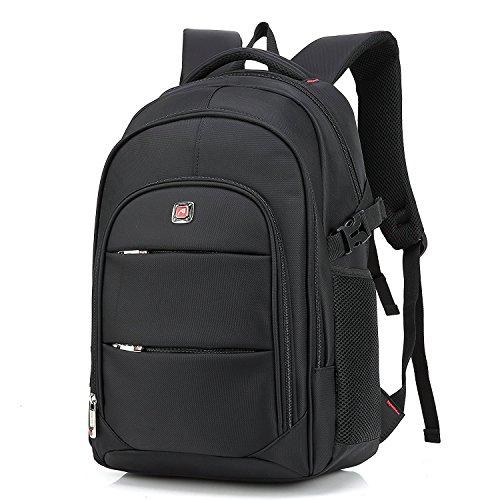 """Preisvergleich Produktbild Laptoprucksack, Cooleaf 17"""" Notebookrucksack, Rucksack für Computer, Schulrucksack Schwarz"""