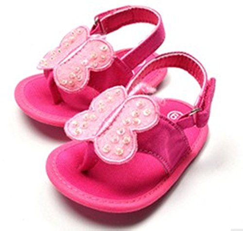 Baby Bucket Pre-Walker Sandal Shoes Light Weight Soft Sole Booties Sandal (10-15 Months, Pink)