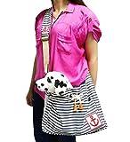 Ylen Streifen Anker Haustier Reise-Träger Rucksack Transporttasche Hundetasche Katzentasche Umhängetasche für Kleine Hunde und Katzen
