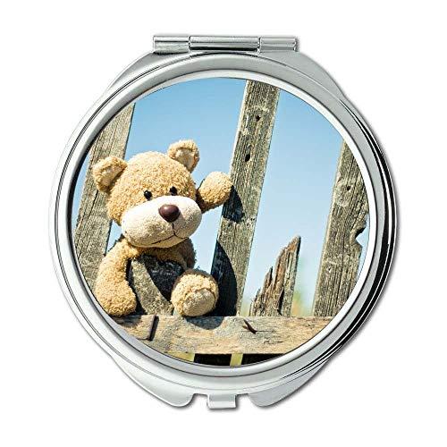 Yanteng Spiegel, Schminkspiegel, süsser Dekozaun, Taschenspiegel, tragbarer Spiegel