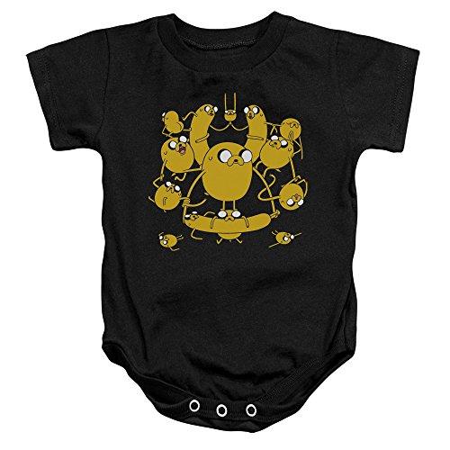 Adventure Time - - Kleinkind Jakes Onesie, 6 Months, Black