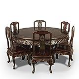 Best Muebles orientales muebles orientales Mesas de comedor - Tradicional Oriental palisandro mesa de comedor y juego Review
