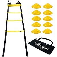 WOD SKAI Escalera de agilidad para entrenamiento Escalera para mejorar velocidad y agilidad,Velocidad escalera de agilidad agility ladder Entrenamiento Agilidad Velocidad para fútbol duradera