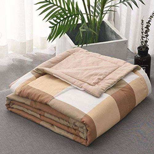 HUILIN 1 stücke Sommer Quilt Decken Plaid Sommer tröster bettdecke quilten bettdecke königin King Size bettwäsche bettdecke couette, kaffeegitter, 150x200 cm
