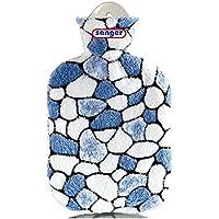 2 Liter Gummi-Wärmflasche inkl. abnehmbarer Plüschbezug Kieselsteine blau/weiß preisvergleich bei billige-tabletten.eu