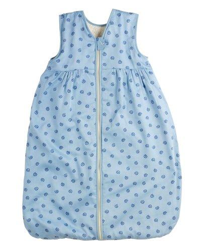 Lana Natural Wear Unisex - Baby Schlafsack Molton Geo, Gr. 120, Blau (Geo Lichtblau 912)