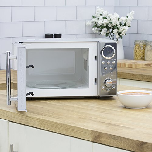 51ORb3hkIrL. SS500  - Swan SM3080N Digital Solo Microwave with 10 Power Levels, 800 Watt, 20 Litre, Silver