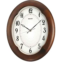 Seiko Wall Clock (38 cm x 31.2 cm x 4.5 cm, Brown, QXA389BN)