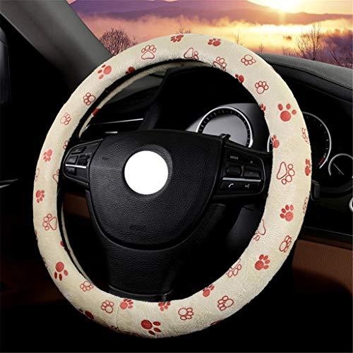 Preisvergleich Produktbild XUEYAN 38cm Lenkrad-Abdeckungs-weicher Flaum Antirutsch / haltbarer / Warmer Auto-Lenker-Griff-Auto-Innenraum (Farbe : B,  größe : 38cm / 14.96inch)