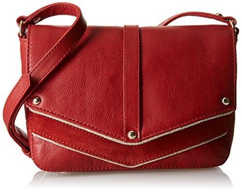 Petite Mendigote Python, Borsa a spalla donna , Rosso (Rouge (Bossa)), Taille Unique