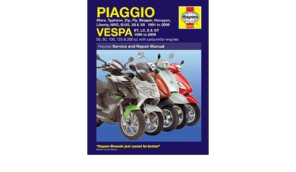 vespa et4 50 2009 repair service manual