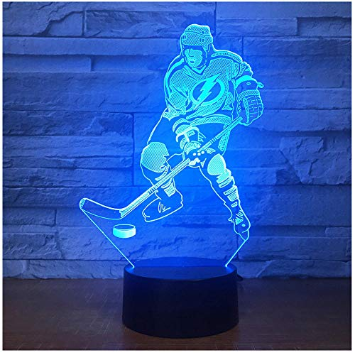 Ice Hockey Game 3D 7 Color Lamp Visual Led Night Lights For Kids Touch Usb Table Light Lamp