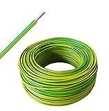 H07V-U 1x4 mm2 - Cable rígido de un solo cable - verde/amarillo - a partir de 10 m hasta 50 m a elegir