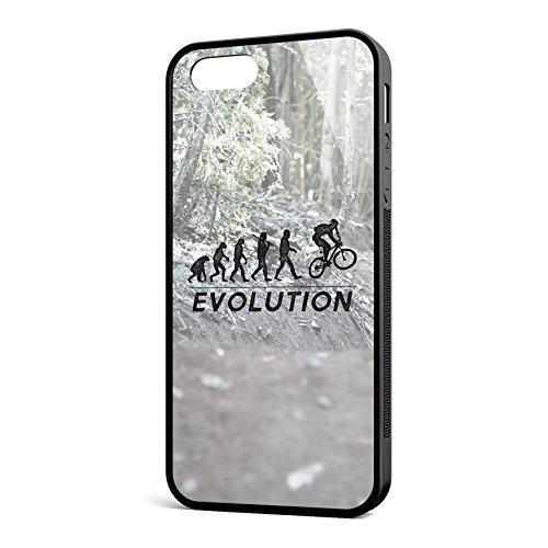 Smartcover Case Evolution MTB z.B. für Iphone 5 / 5S, Iphone 6 / 6S, Samsung S6 und S6 EDGE mit griffigem Gummirand und coolem Print, Smartphone Hülle:Iphone 6 / 6S schwarz Iphone 5 / 5S schwarz