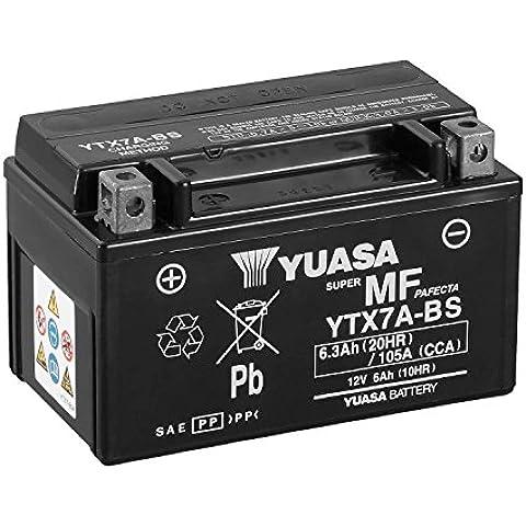 YUASA - Batería YTX7A-BS Combipack (con electrolito)