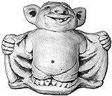gartendekoparadies.de Lustiger Troll Fledermaus Dracula aus Steinguss, frostfest