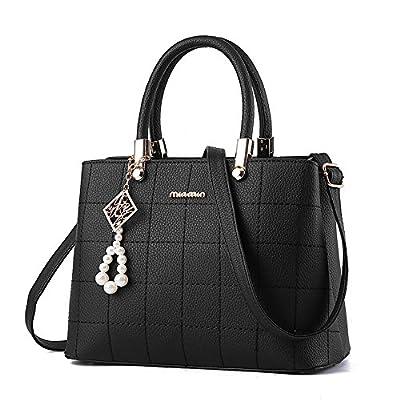 femme sac a main noir, BESTOU PU cuir sac bandoulière femme