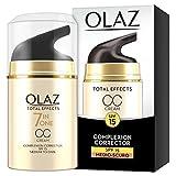 Olaz Total Effects 7in1 CC Cream Crema Correttore Giorno, Medio-Scuro, 50 ml
