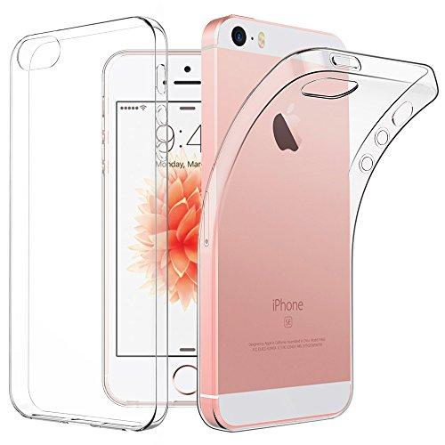 EasyAcc iPhone SE 5S 5 Hülle Case, Dünn Crystal Clear Transparent Tasche Handyhülle Cover Soft Premium-TPU Durchsichtige Schutzhülle Backcover Slimcase für iPhone SE 5S 5