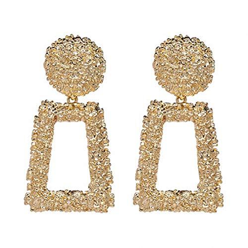 Stile punk metal geometrica Maxi collana orecchini gioielli ciondolo grande a forma di goccia oro