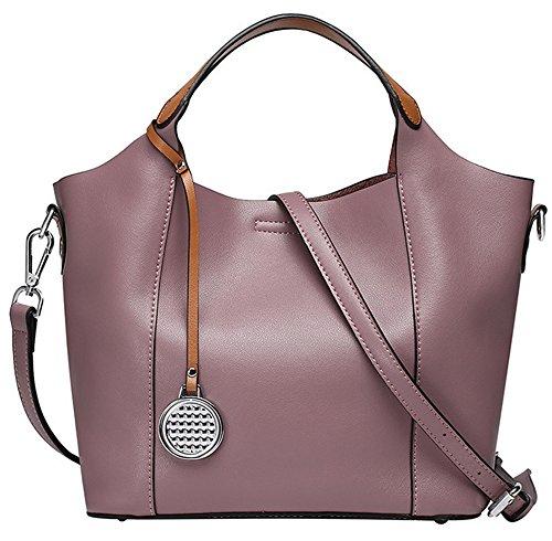 Xinmaoyuan Sacs à main pour Femme Sac à main en cuir Sac en cuir sac de messager d'épaule de dames Purple