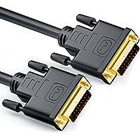 deleyCON Cable 0,5m DVI para DVI 24+1 - DVI-D Dual Link - 1080p / Full-HD / 3D Ready - Adaptador DVI con DVI contactos Dorados - Negro