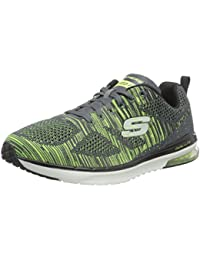Skechers Hombres Gris (Charcoal & Lime) Skech-Air Infinity Rapid Fire Zapatillas