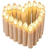 Weihnachtskerzen SANVA 10/20/30/40 Stück RGB & Warmweiß Licht LED Kerzen Timmer Wasserdichte Kerzenlichter Flammenlose Lichter für Weihnachtsbaum, Weihnachtsdeko,Geburtstags, Hochzeit, Party,Feiertag