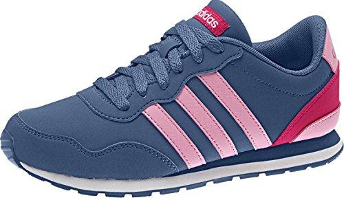 Adidas V Jog K–Chaussures de deportepara enfants Core Blue / Light Pink / Bold Pink