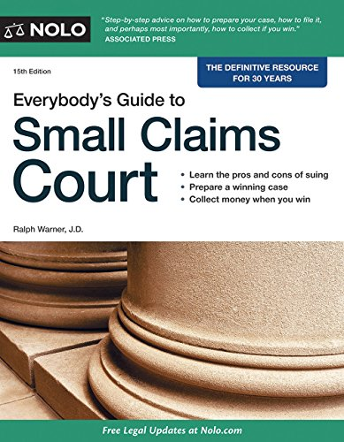 Everybody's Guide to Small Claims Court (Everybody's Guide to Small Claims Court. National Edition)